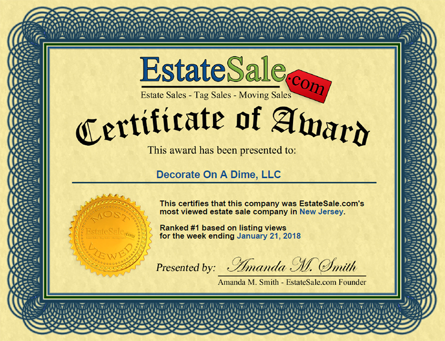 Top Estate Sales in NJ